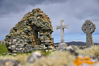 Headstones Photograph - Gaelic Headstone by Nichola Denny