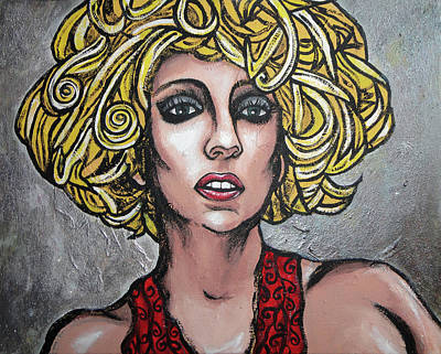 Bad Romance Painting - Gaga by Sarah Crumpler