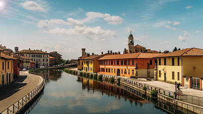 Gaggiano On The Naviglio Grande Canal, Italy Art Print