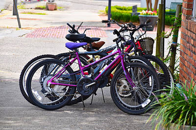Photograph - Gaggle Of Bicycles by Linda Brown