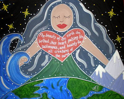 Greek Icon Painting - Gaia by Angela Yarber
