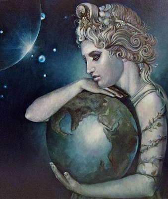 Gaia Art Print by Geraldine Arata