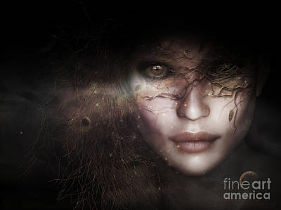 Gaia Digital Art - Gaia Goddess by Shanina Conway