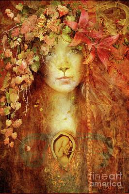 Gaia Digital Art - Gaia Life Force by Jena DellaGrottaglia