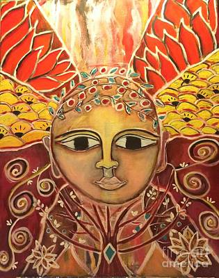 Painting - Gaia - Mother Earth  by Corina  Stupu Thomas