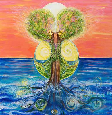 Gaia Rising Art Print