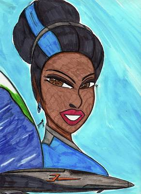 Gaia Art Print by Ronald Woods