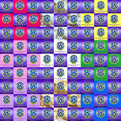 Gaia Digital Art - Gaia Scene Divine Rainbow Ray Quilt Square by Gaia Scene