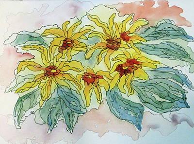 Painting - Gaillardia by Renee Goularte