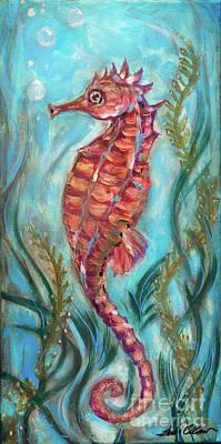 Painting - Gailo Seahorse by Linda Olsen