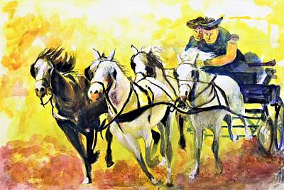 Painting - Gaining Momentum by Khalid Saeed