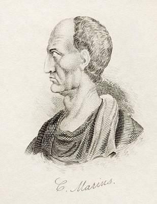 Marius Drawing - Gaius Marius, 157 Bc  86 Bc. Roman by Vintage Design Pics