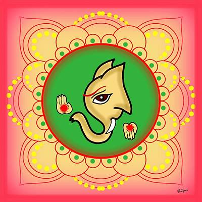 Digital Art - Gajavaktra by Pratyasha Nithin