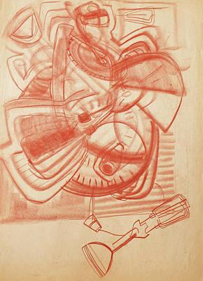 Drawing - Gajits II by Phyllis Hanson Lester