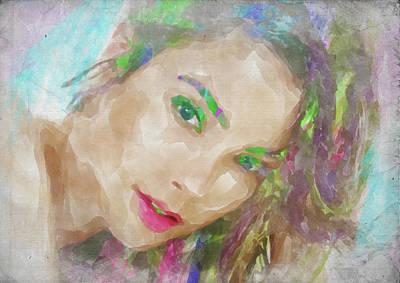 Photograph - Gal Gadot Watercolor by Ricky Barnard