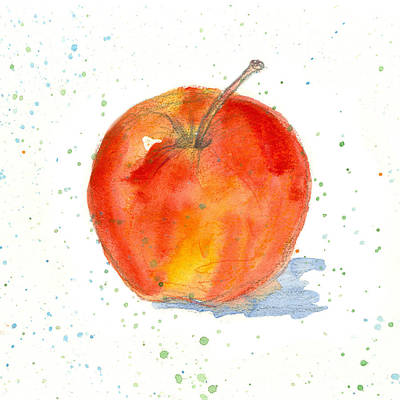 Painting - Gala Apple Study by Cathie Richardson