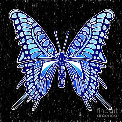 Galactic Butterfly Art Print
