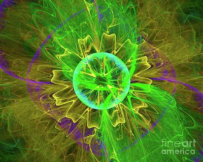 Science Fiction Royalty-Free and Rights-Managed Images - Galactic Flower by Raphael Terra