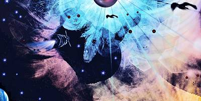 Galactic Mixed Media - Galactic Gatekeepers by Romuald  Henry Wasielewski