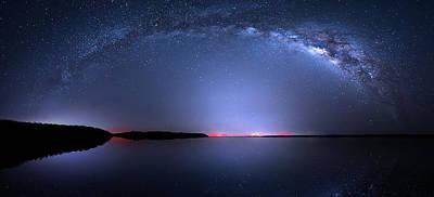 Photograph - Galactic Lake by Mark Andrew Thomas