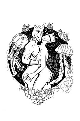 Galactic Love Art Print