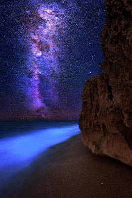 Photograph - Galactic Night Dreams by Justin Kelefas