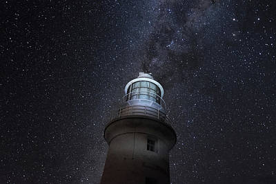 Photograph - Galactical Lighthouse by Martin Capek