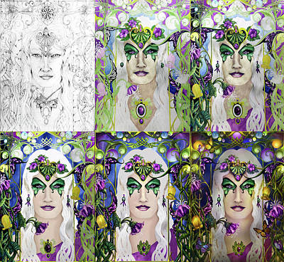 Mixed Media - Galadriel Progression by Curtiss Shaffer