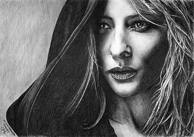 Cate Blanchett Drawing - Galadriel by Iren Faerevaag