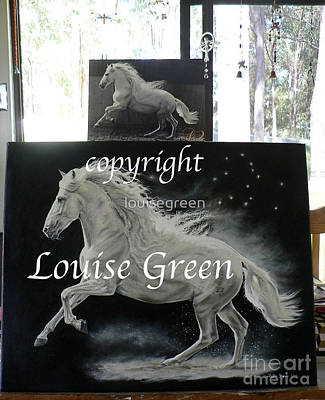Painting - Galan - Song Of Pegasus by Louise Green