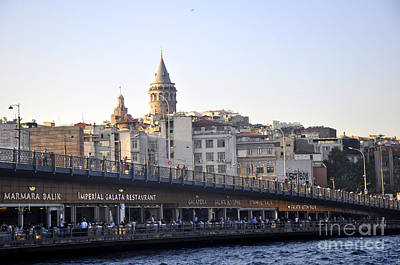 Photograph - Galata Bridge by Andrew Dinh