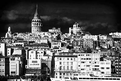 Old School House Photograph - Galata Tower II by John Rizzuto