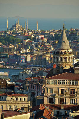 Turkish Photograph - Galata Tower by Photo by Bernardo Ricci Armani