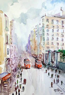 Painting - Galatasaray - Istanbul - by Faruk Koksal