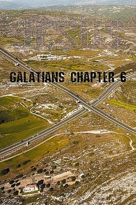 Digital Art - Galatians Chapter 6 by Payet Emmanuel