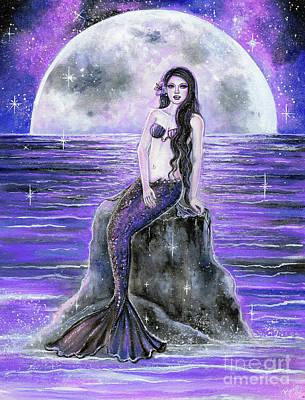 Painting - Galax Sea Mermaid by Renee Lavoie