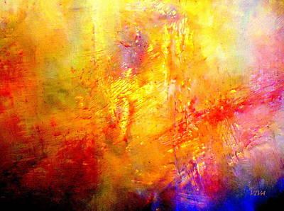 Galaxy Afire Art Print