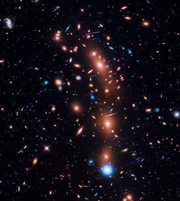 Photograph - Galaxy Cluster Macs J0416.1-2403 by Ram Vasudev