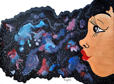 Natural Hair Painting - Galaxy  by Diamin Nicole