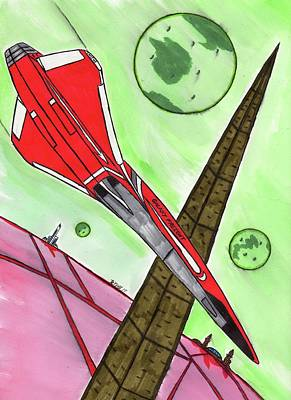 Galaxy Freight Clipper Falcon Art Print