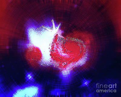 Galaxy Light Heart Art Print