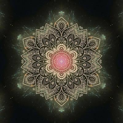 Galaxy Mandala #1 Print by Lena Photo Art