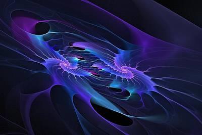 Merging Digital Art - Galaxy Merger by Doug Morgan