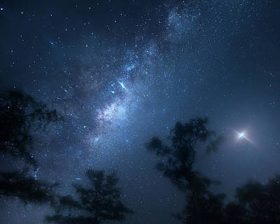 Photograph - Galaxy Planet by Mark Andrew Thomas