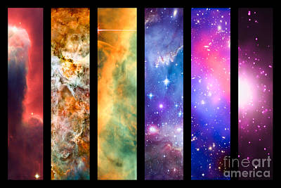 Space Rainbow Art Print by Delphimages Photo Creations