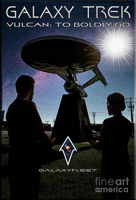 Photograph - Galaxy Trek  Vulcan To Boldly Go Poster  Pilot Episode by Brad Allen Fine Art