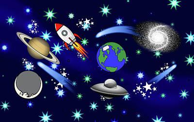 Mixed Media - Galaxy Universe by Gravityx9 Designs