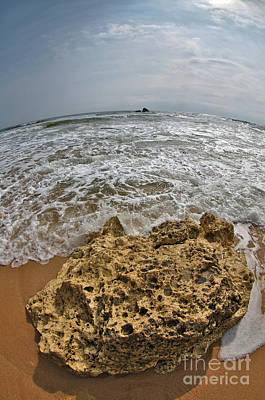 Photograph - Gale Beach Fish-eye Shot by Angelo DeVal