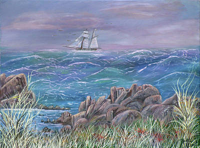 Sailboat Painting - Gale In My Salie by Mikki Alhart