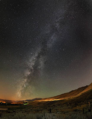 Photograph - Galena Creek Bridge Under Summer Sky Filled With Milky Way And Mt. Rose In The Background by Brian Ball